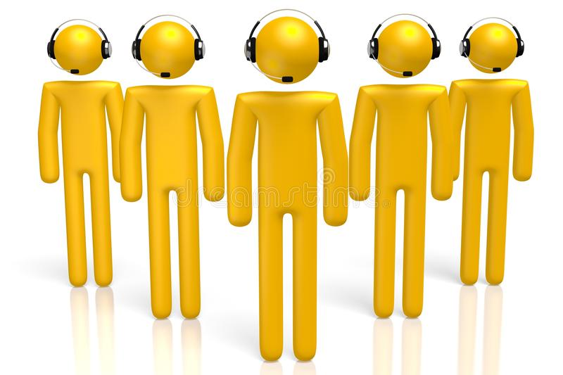 3D call center concept royalty free stock photos