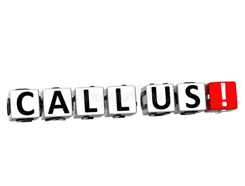 3D Call Us! Button Click Here Block Text stock illustration