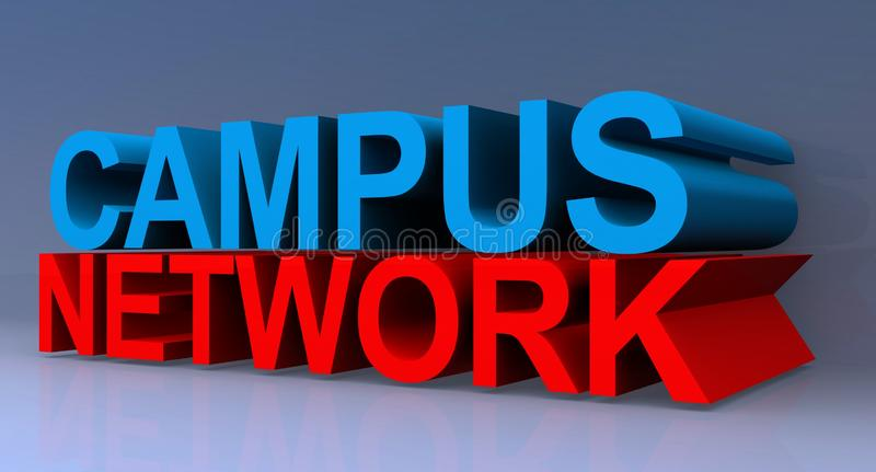 3D Campus Network Sign. A 3D campus network sign vector illustration