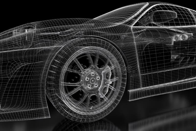 3d car mesh on a black stock illustration illustration of download 3d car mesh on a black stock illustration illustration of transportation 93120556 malvernweather Gallery