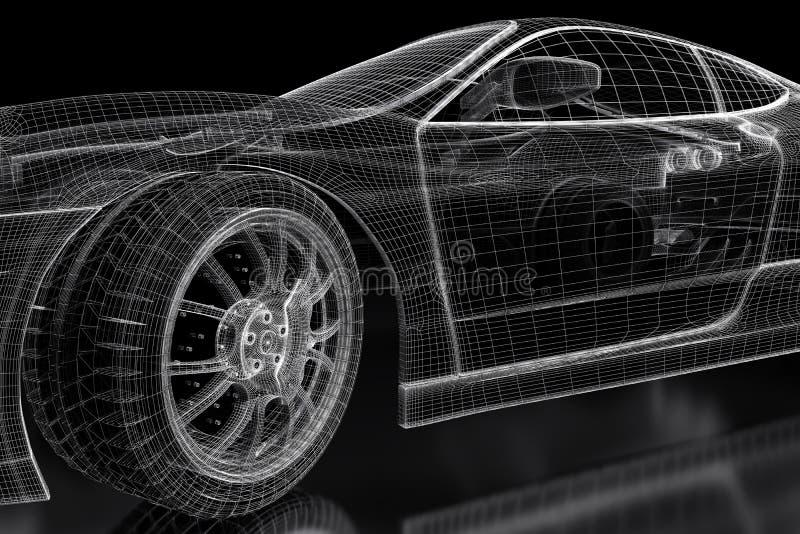 3D car royalty free illustration