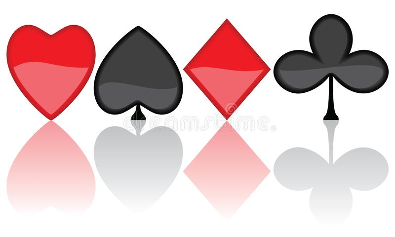 3d card symbol. Isolated on a white background royalty free illustration