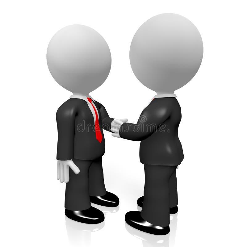 3D handshake concept royalty free illustration
