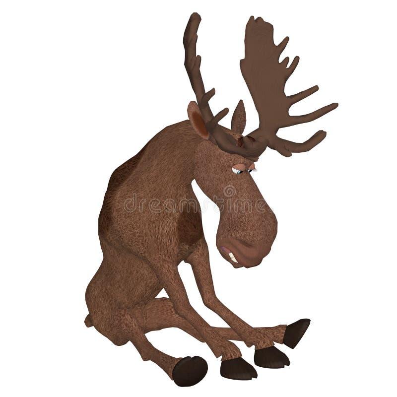 3d cartoon moose stock illustration