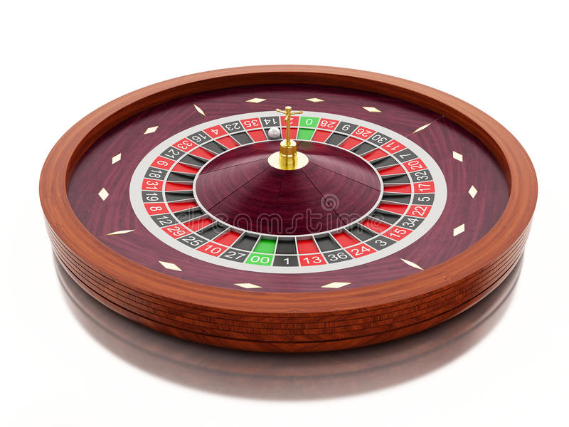 3d Casino roulette wheel. Gambling games. stock illustration