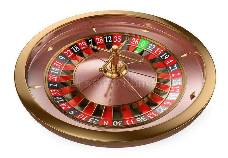 3D Casino roulette. 3d white people. 3D Casino roulette. White background royalty free illustration