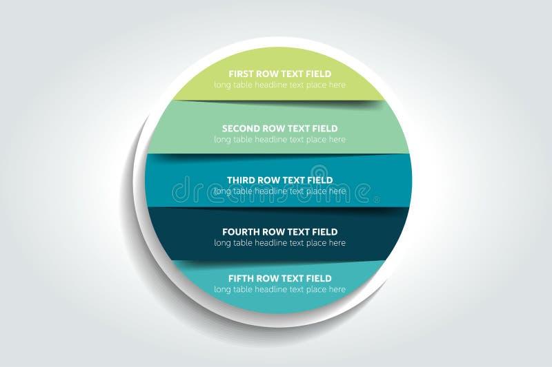 3d cerchio, infographic rotondo, grafico, schema, diagramma, tavola, programma, elemento illustrazione di stock