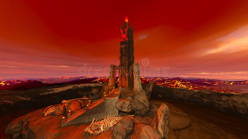 3D CG rendering of ancient ruins royalty free illustration
