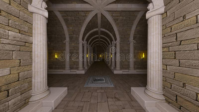 3D CG rendering antyczne ruiny ilustracja wektor