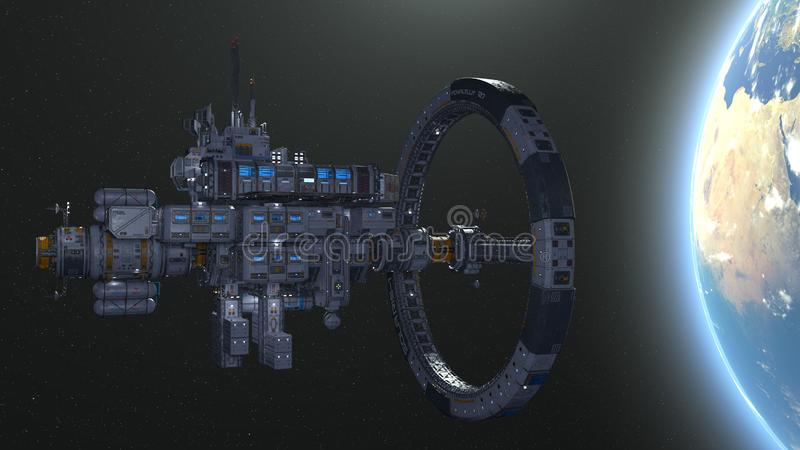 3D CG rendering astronautyczny statek royalty ilustracja
