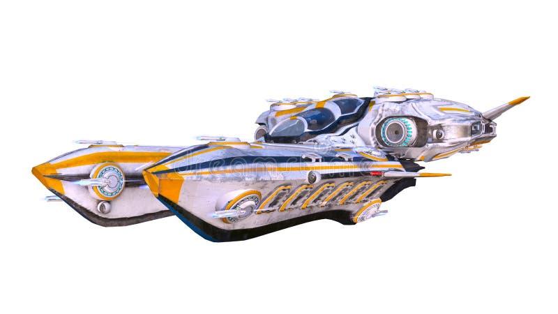 3D CG rendering astronautyczny statek ilustracji