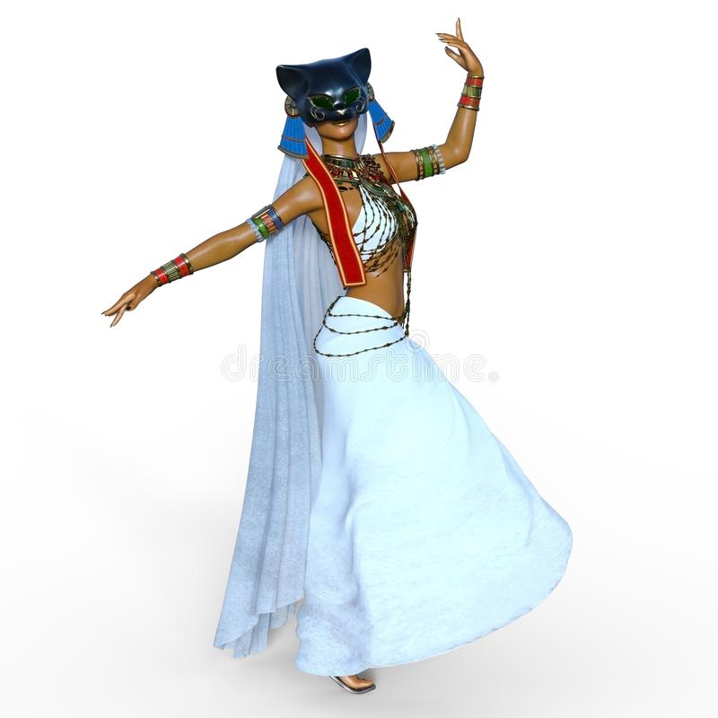 Belly dancer royalty free illustration