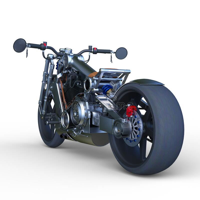 3D CG rendering of bike.  vector illustration