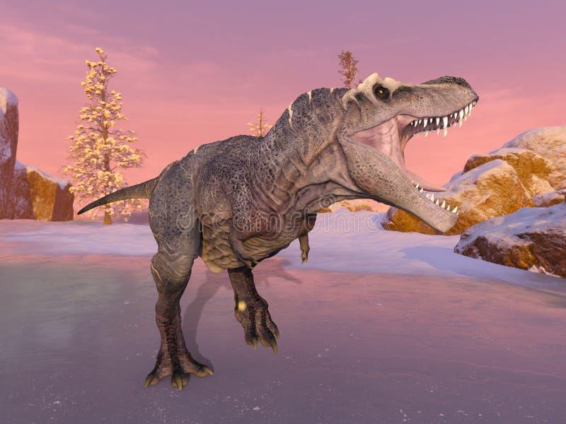 3D CG rendering of Dinosaurs.  stock illustration