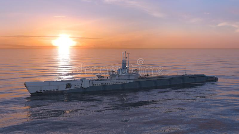 Escort ship stock image