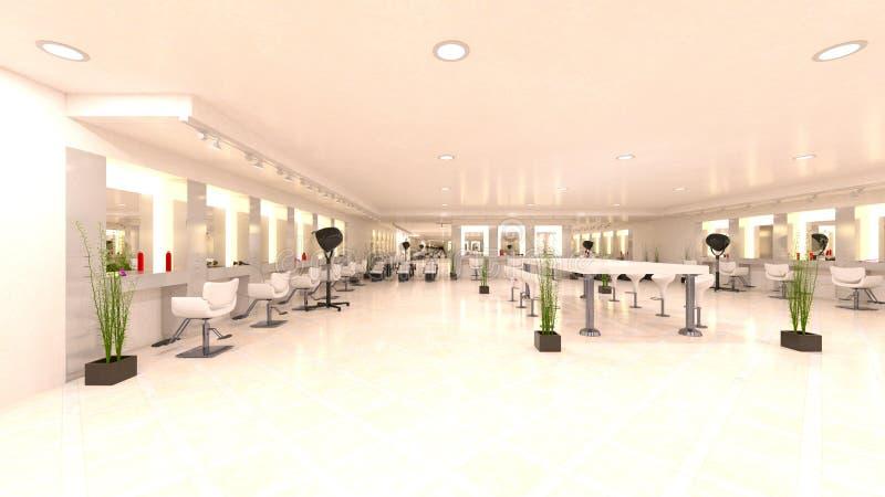 3D CG rendering fryzjer ilustracja wektor