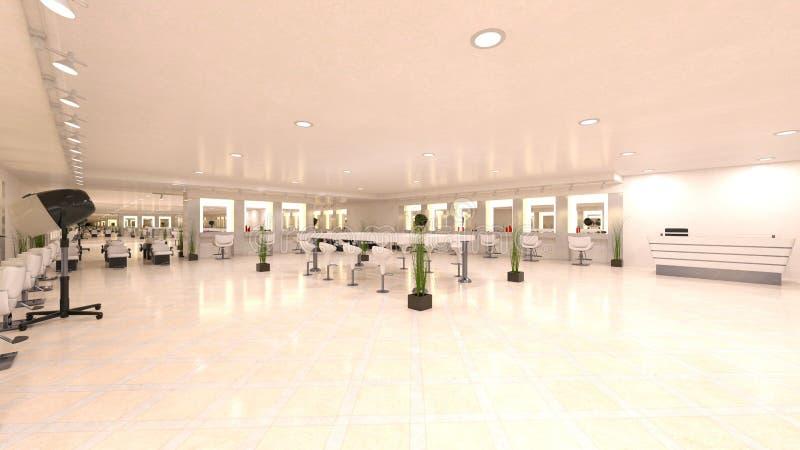 3D CG rendering fryzjer royalty ilustracja