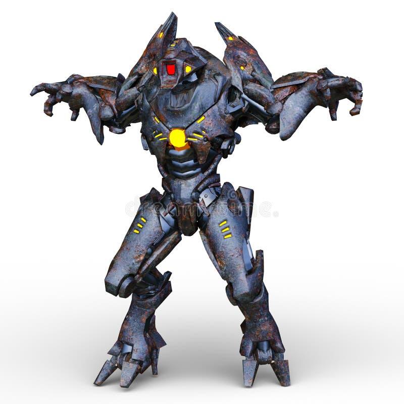 3D CG rendering of Humanoid royalty free illustration