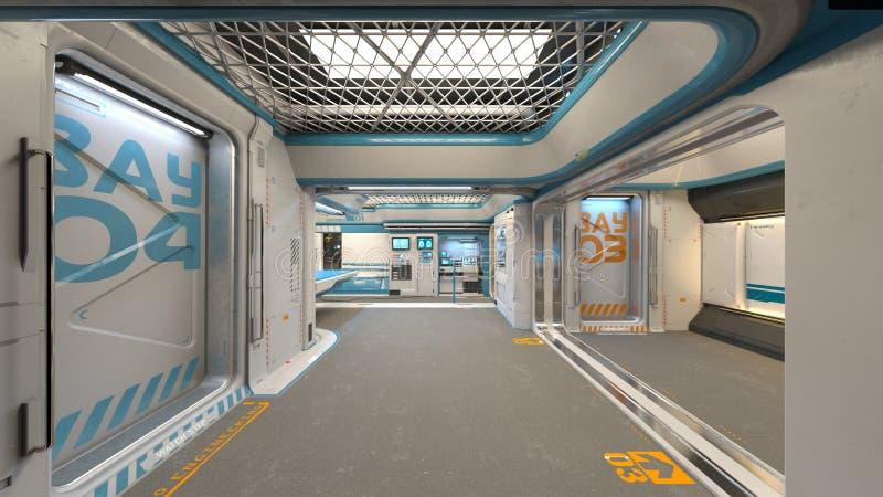 3D CG rendering Nowożytna budynek nawa ilustracja wektor
