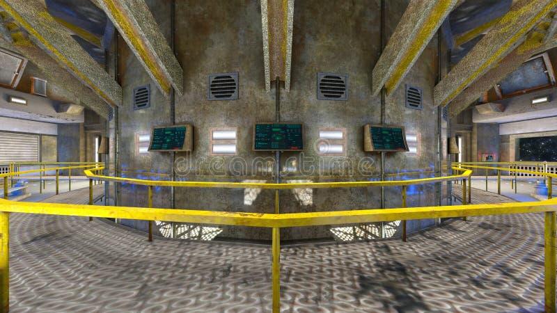 3D CG rendering Nowożytny budynku biuro zdjęcia stock