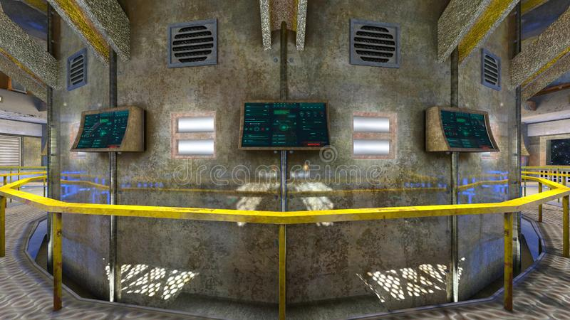3D CG rendering Nowożytny budynku biuro obrazy royalty free