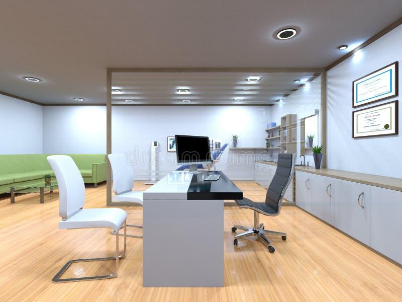 3D CG rendering Nowożytny budynku biuro royalty ilustracja