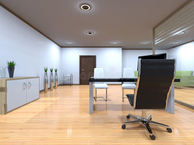 3D CG rendering Nowożytny budynku biuro ilustracji