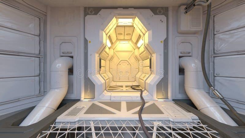 3D CG rendering nowożytny salowy ilustracja wektor