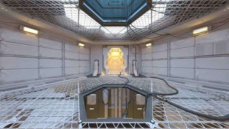 3D CG rendering nowożytny salowy ilustracji