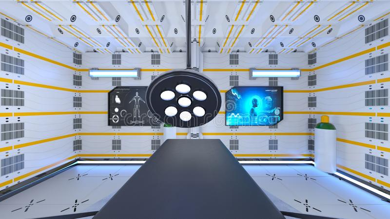 Operating room. 3D CG rendering of the operating room royalty free illustration