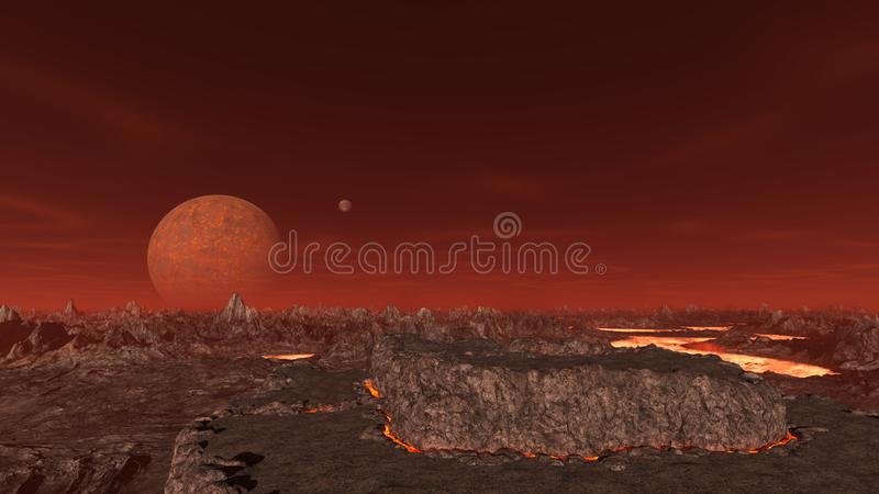 3D CG rendering pustkowie royalty ilustracja