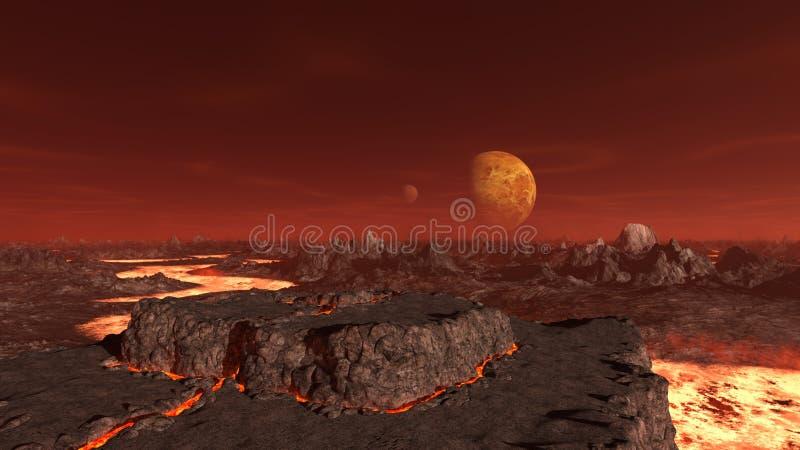 3D CG rendering pustkowie ilustracja wektor