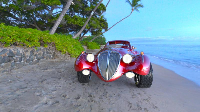 Red sports car. 3D CG rendering of a red sports car royalty free stock image