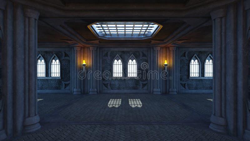 3D CG rendering of residence royalty free illustration