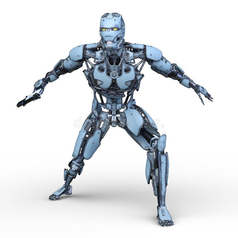 3D CG rendering robot royalty ilustracja