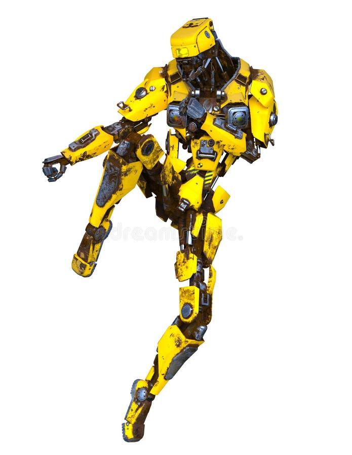 3D CG rendering of robot royalty free illustration