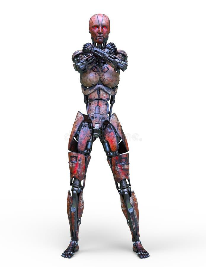 3D CG rendering of robot stock illustration