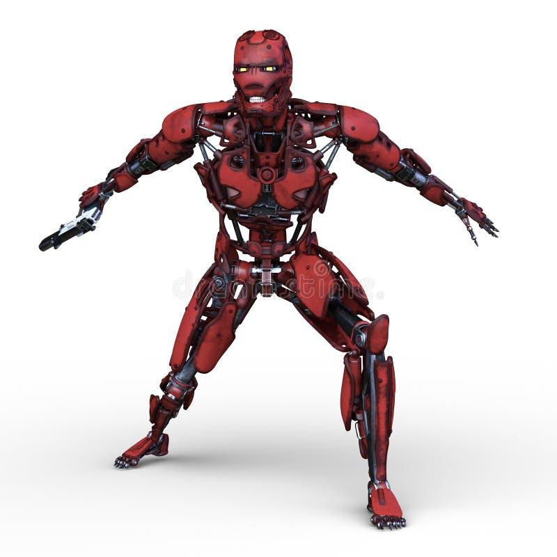 3D CG rendering robot ilustracji