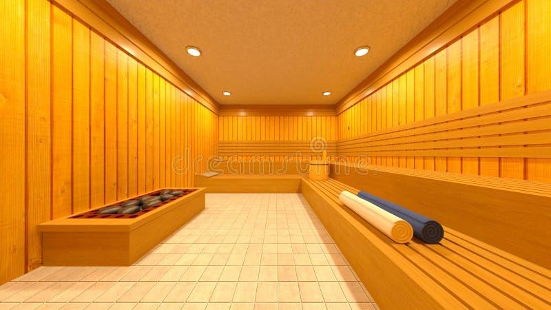 3D CG rendering Sauna ilustracji