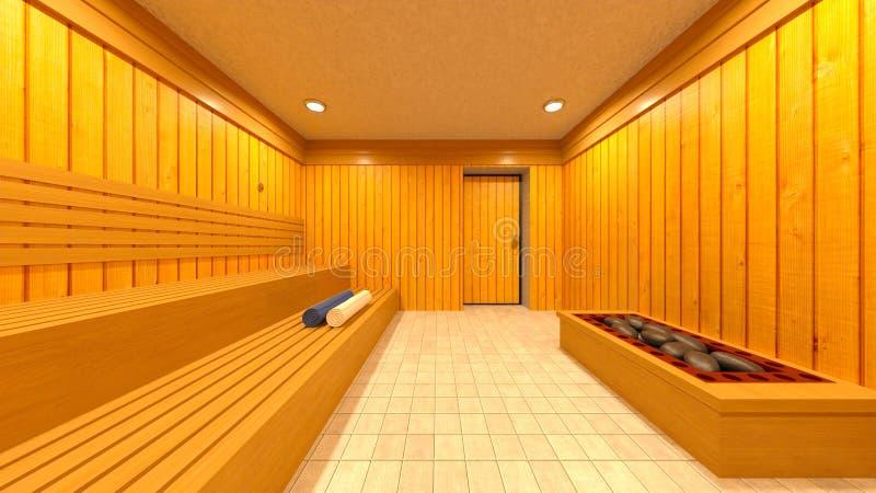 3D CG rendering Sauna royalty ilustracja