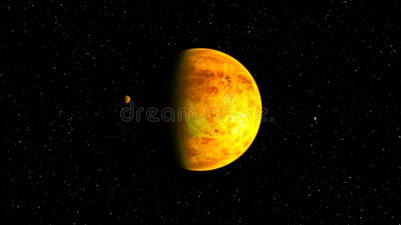 3D CG rendering of Space planet stock illustration