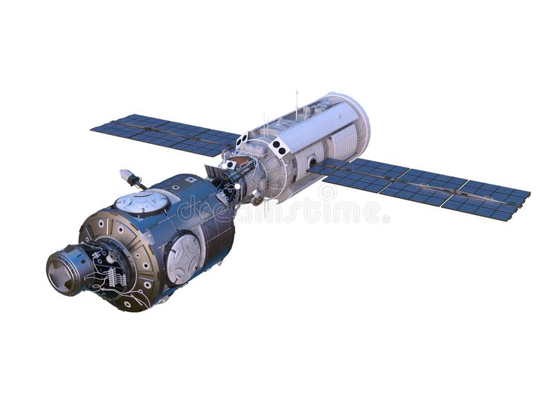 3D CG rendering of Space satellite royalty free illustration