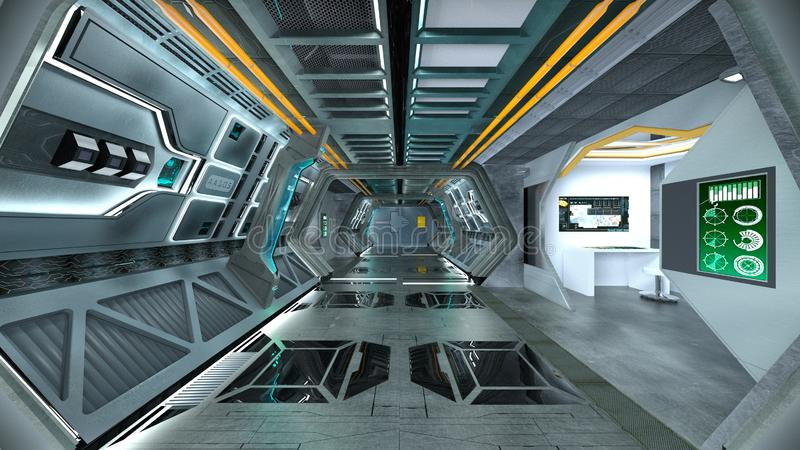 3D CG rendering of space station vector illustration