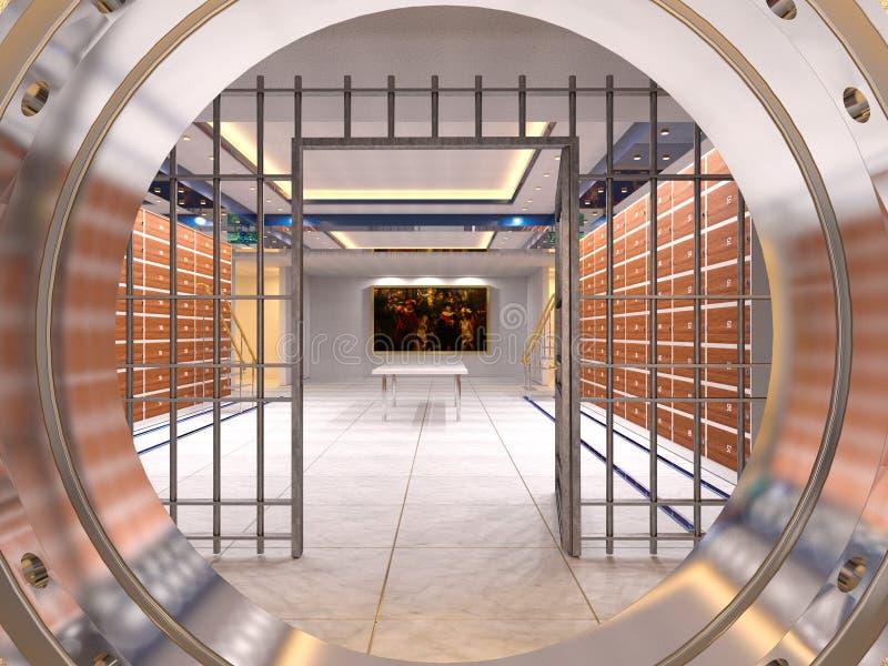 Vault room. 3D CG rendering of the vault room royalty free stock image