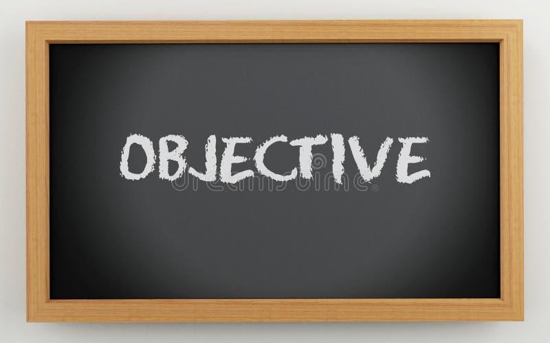 3d chalkboard z obiektywnym tekstem ilustracja wektor