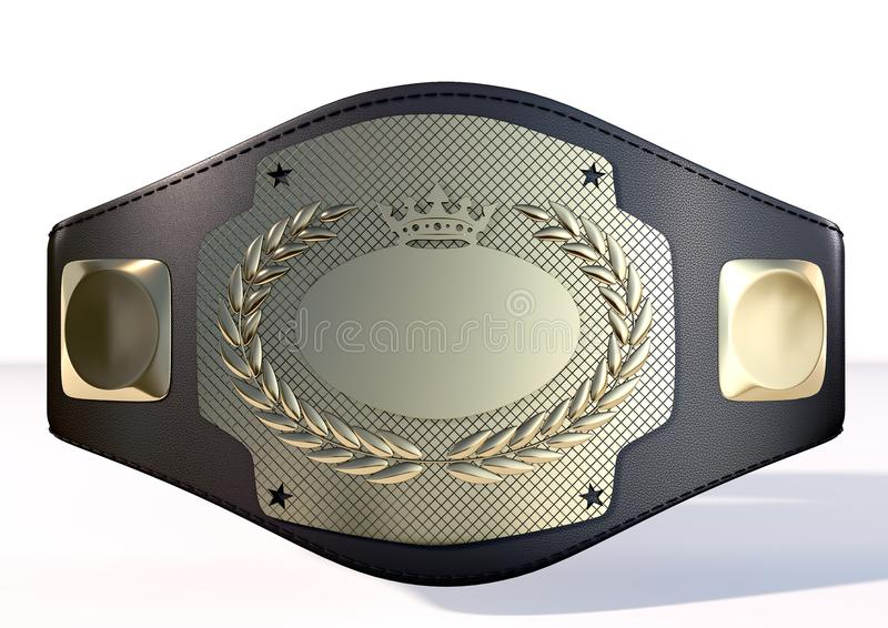 3D championship belt stock images