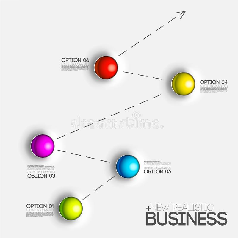 3d chart diagram business presentation. Realistic vector illustration design concept. Set of Infographic symbols elements graph ba royalty free illustration