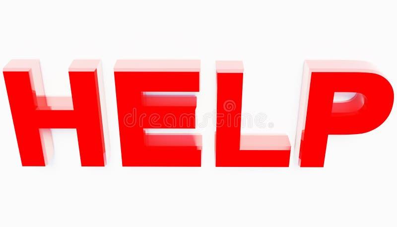 3d che rende aiuto rosso animato delle lettere fotografia stock libera da diritti