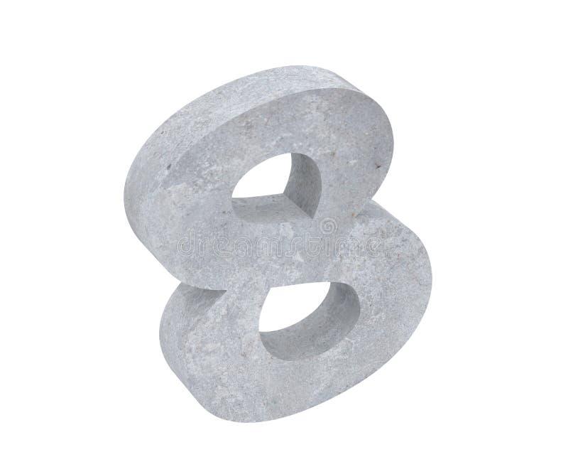 3D che rende numero concreto 8 otto 3d rendono l'illustrazione illustrazione vettoriale