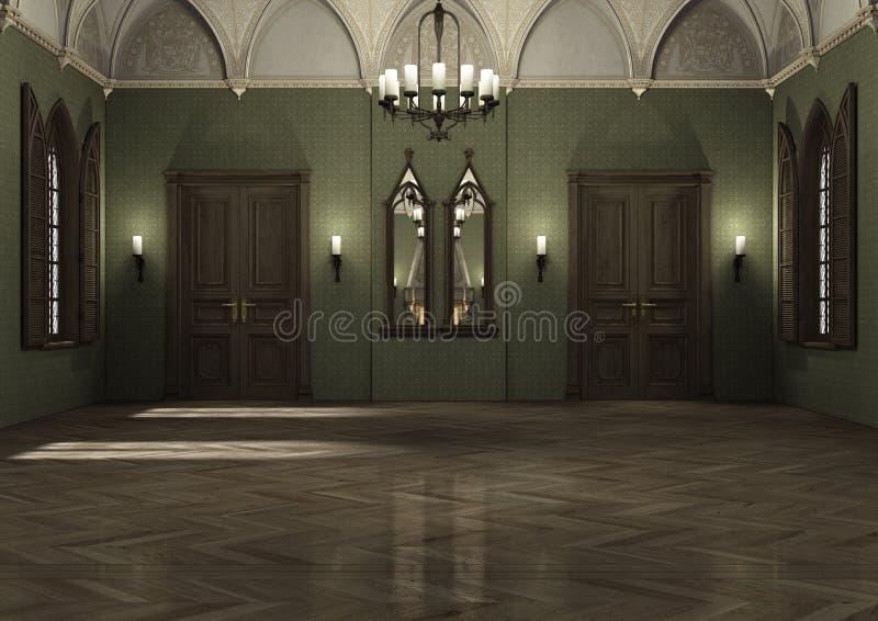 3D che rende palazzo scuro royalty illustrazione gratis